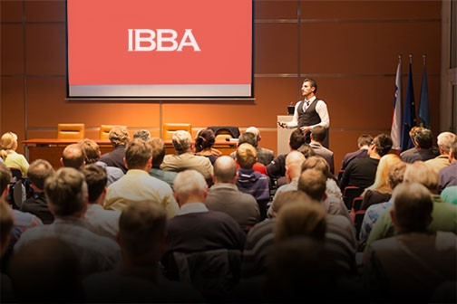 IBBA conference room filled with people
