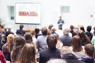 group of people attending IBBA meeting