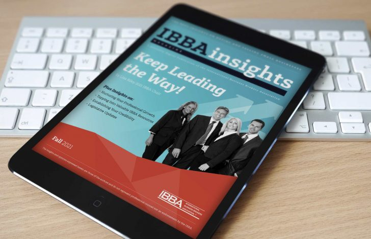 ibba insights magazine fall 2021 edition on tablet